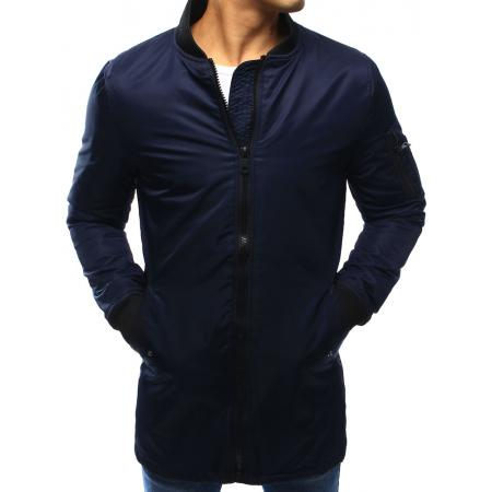 Pánská bunda prodloužená tmavě modrá