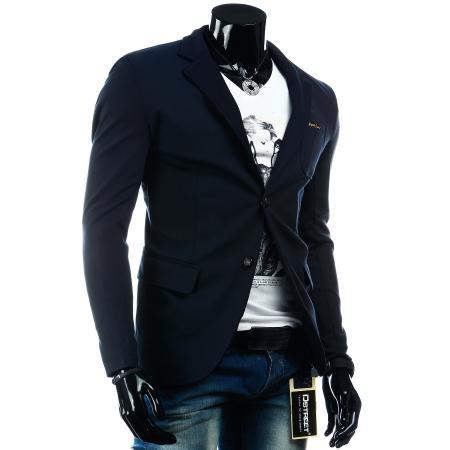 Pánské elegantní sako v námořnicky modré