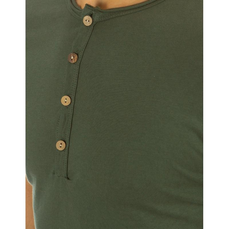 049c70e67a9 Pánské tričko bez potisku zelené