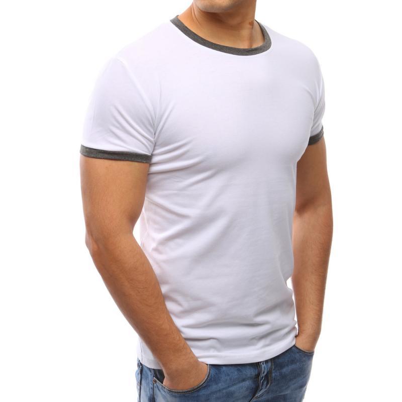 d6a3bc2a7540 Pánské tričko slim fit bílé