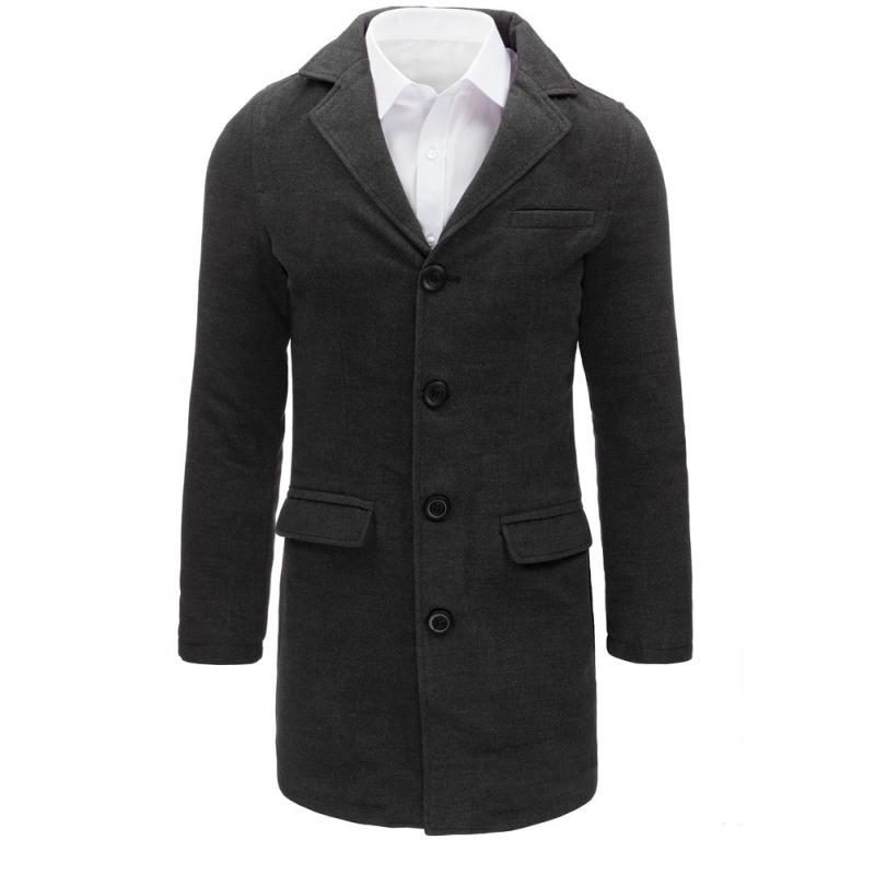 499ee916b96a Tmavě šedý pánský kabát