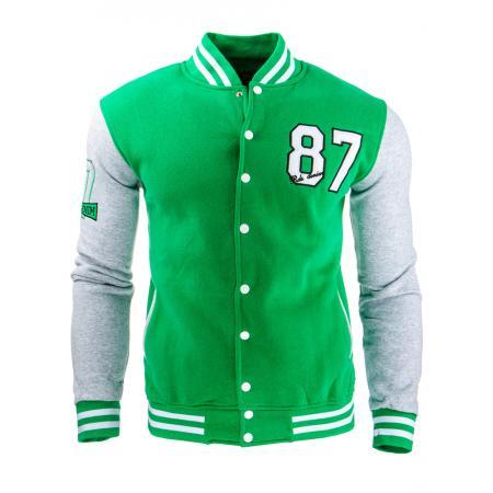 Pánská stylová baseballová mikina zielona