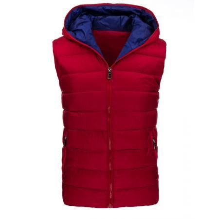 Pánská stylová vesta červená