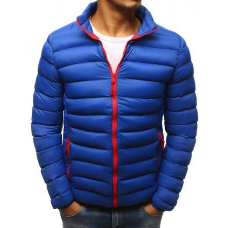 Pánská zimní bunda prošívaná modrá