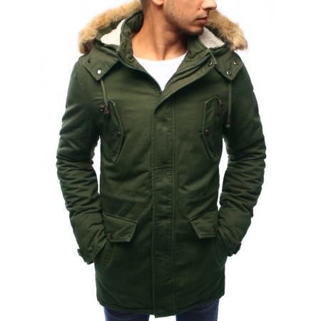 Pánská bunda parka zimní zelená