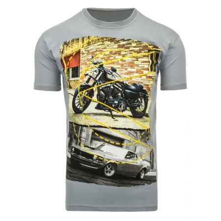 Pánské triko (tričko s potiskem) šedé