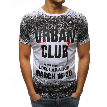 Pánské stylové tričko s potiskem bílý 04fecdebb1
