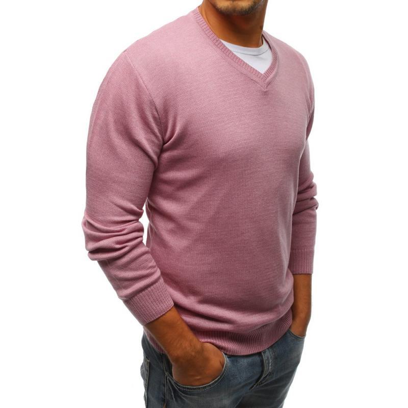 Pánský růžový svetr  36a5c1fbd6