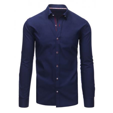 Elegantní pánská košile modrá s dlouhým rukávem