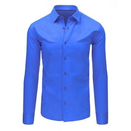 Pánská modrá košile s dlouhým rukávem
