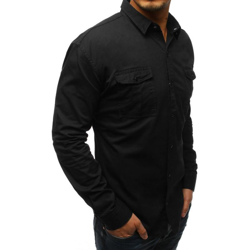 b251552611e Pánská černá košile