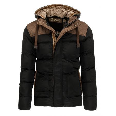 Pánská stylová zimní bunda černá