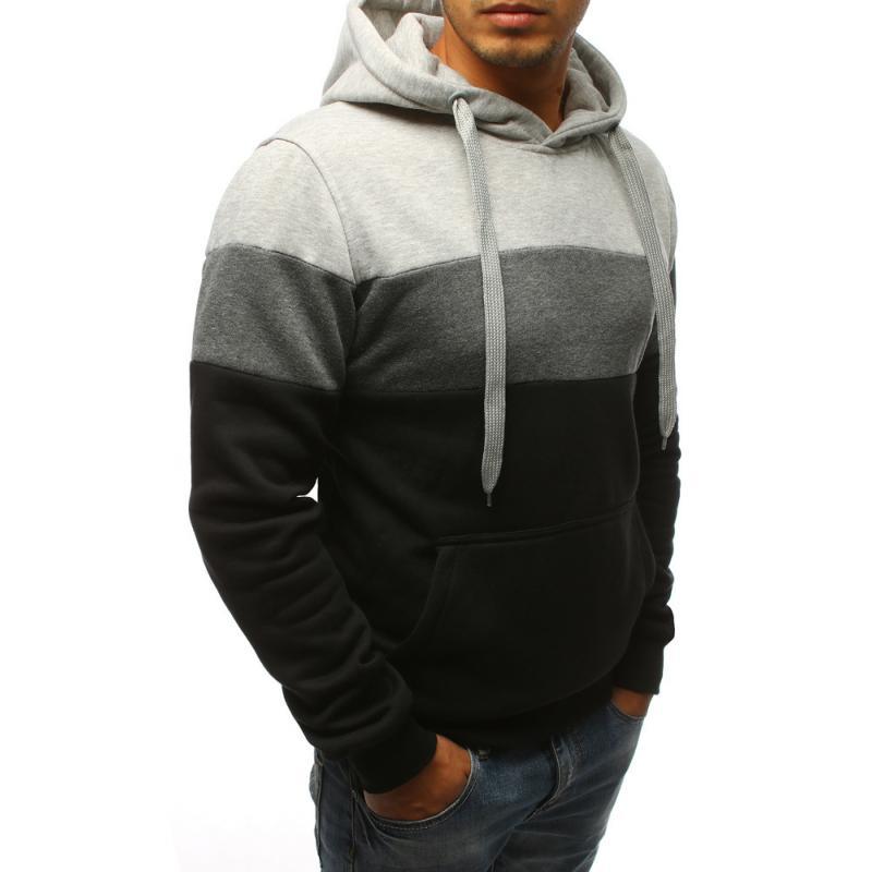 Pánská mikina s kapucí černá  af86532826e
