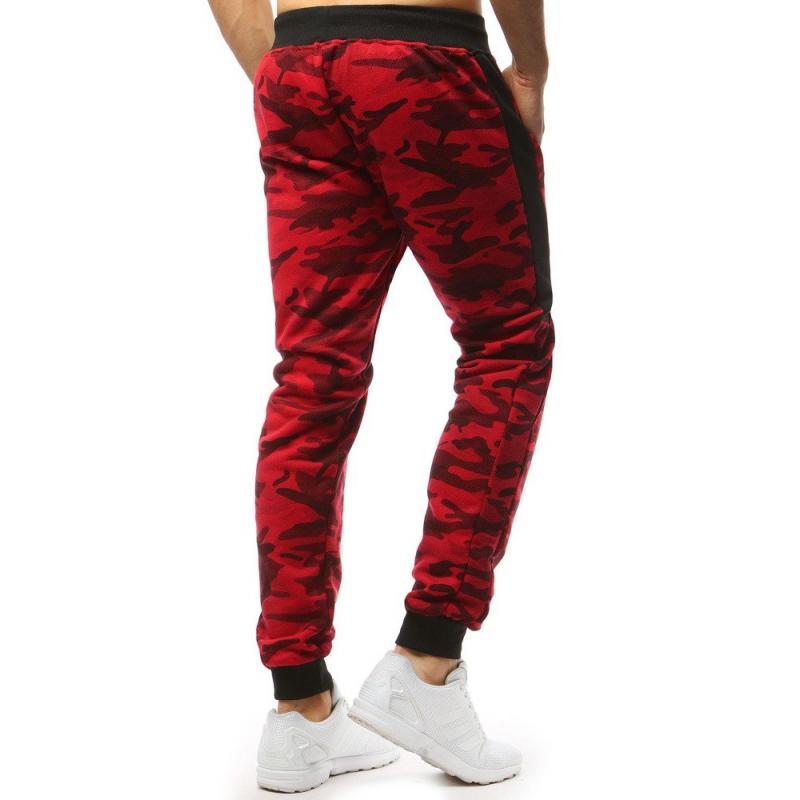 Pánské STYLE kalhoty tepláky maskáčové červená  a0fc1f4ad4