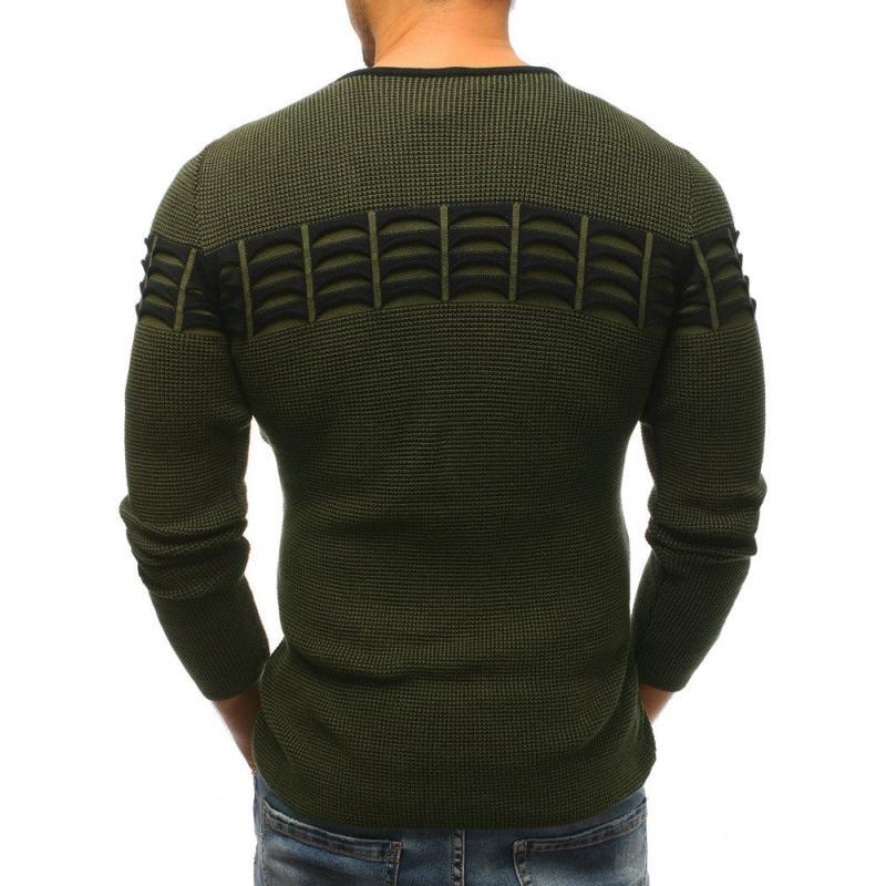 Pánský svetr zelený STYLE  906526268c