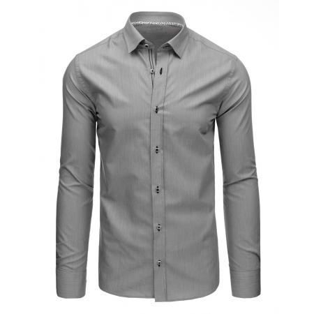 Elegantní pánská košile šedá s dlouhým rukávem