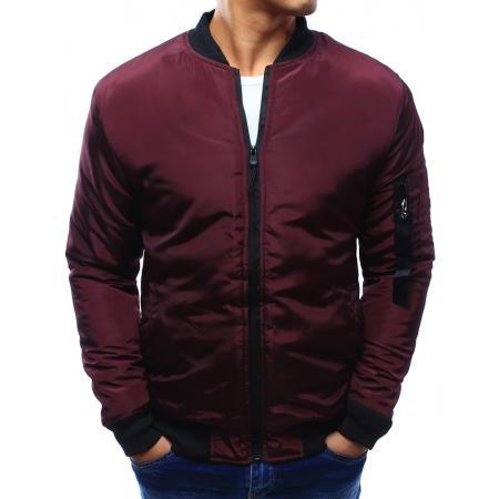 Pánská bunda bomber jacket tmavě červená