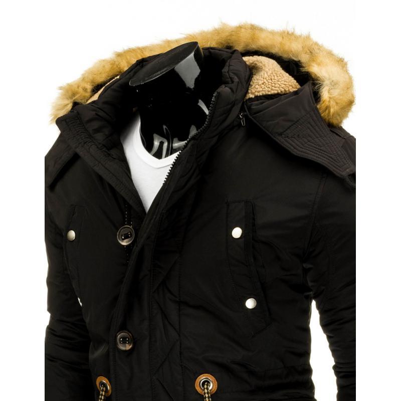 Pánská stylová street bunda (parka) černá  724b8bd4045