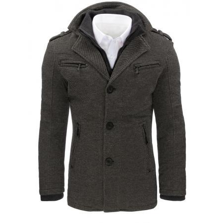 Pánský šedý kabát 2b83b19693