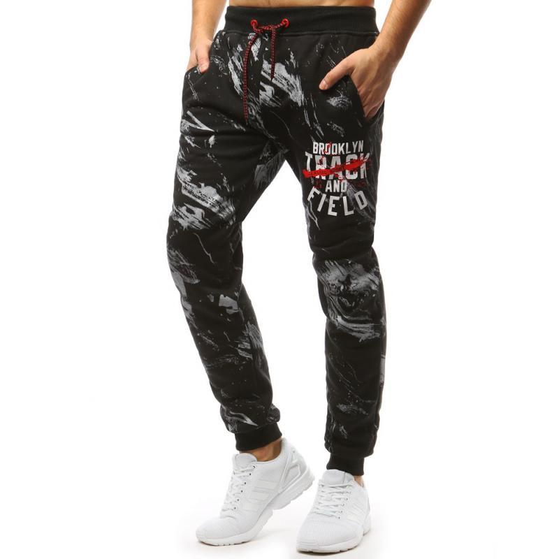 Pánské STYLE kalhoty tepláky černé  443b4122d5