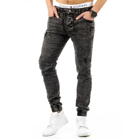 Pánské stylové kalhoty džíny černé