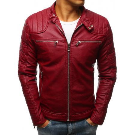 Pánská STYLE bunda koženka červená