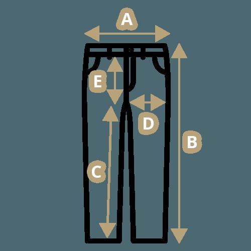 Jak změřit velikost kalhot  22f0c3446a